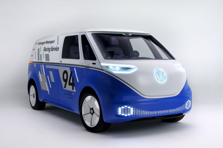 VW I.D. Buzz Cargo Electric Van Concept in LA