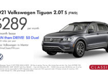 2021 Volkswagen Tiguan S Lease for $289/month!