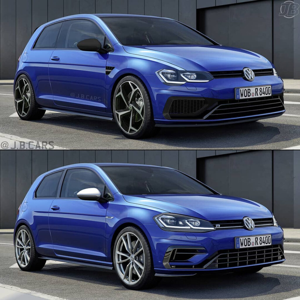2021 VW Golf R Rendering Is All About The Headlights